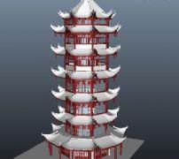 7层宝塔模型