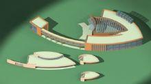 鱼型公建,体育馆