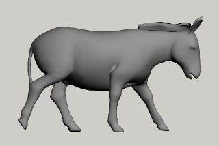 走路的驴有绑定有动画