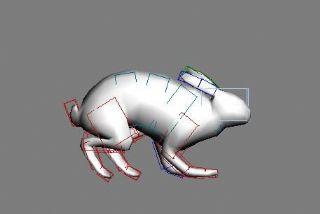 跳跃奔跑的兔子,有绑定和动画