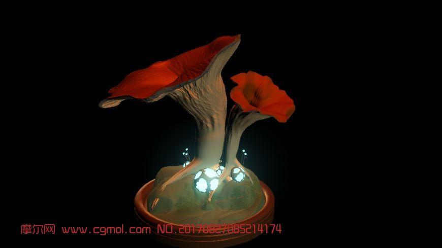 巨型蘑菇maya模型