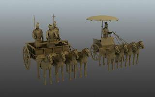 兵车俑,铜车马,兵马俑两套装
