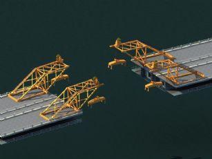 桥面合拢吊机,吊架
