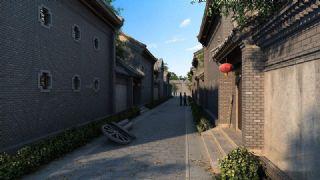 中式胡同巷子场景max模型(网盘下载)