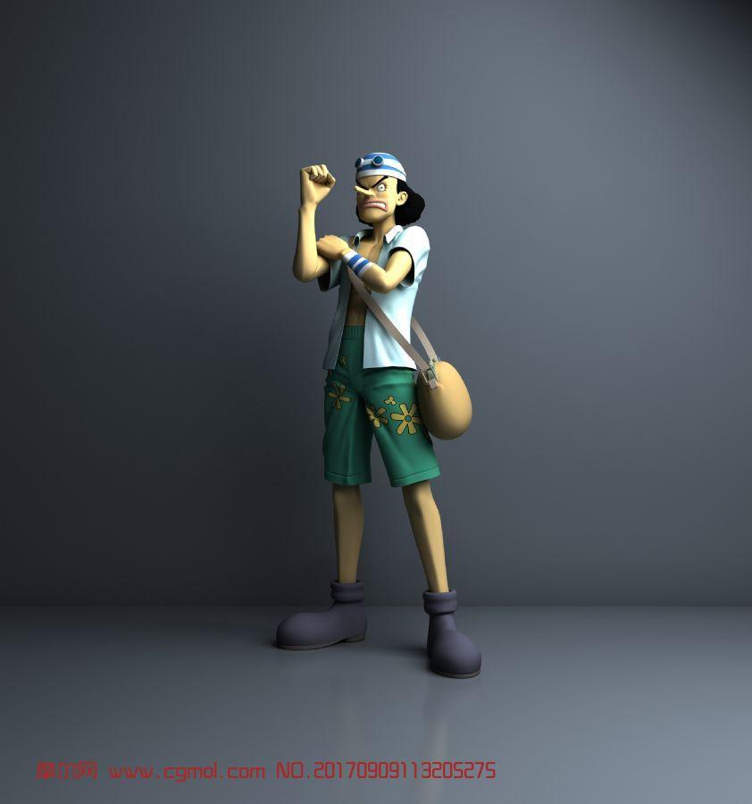 海贼王乌索普3D模型