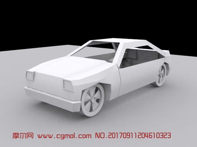 折纸汽车max模型