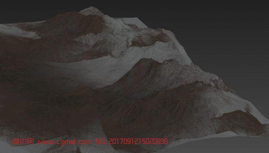 雪山obj模型(网盘下载)