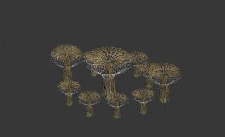 景观广场小品树花