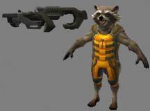 银河护卫队―火箭浣熊带武器