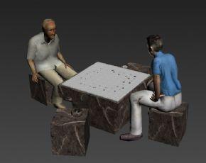 下围棋的人