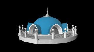 伊斯兰风格城堡maya模型