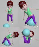 练瑜伽的妹纸max2016模型