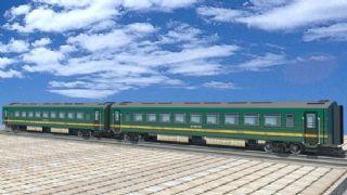 绿皮火车车厢maya模型