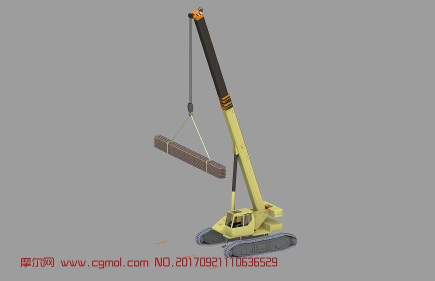 伸缩臂履带吊吊装压型钢板