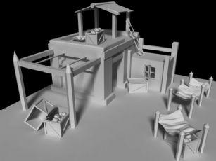 农家小屋maya模型