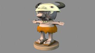 原始人maya模型
