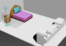 现代居家卧室