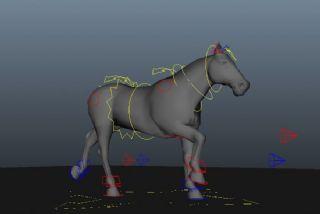 奔跑的马maya模型
