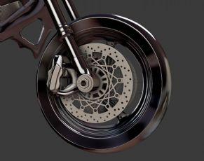 摩托车前轮胎部分精模fbx格式