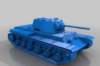 二战著名坦克KV-1,stl格式