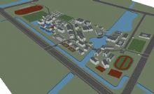 中国园林式古建小区规划max模型下载