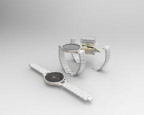 机械手表+完整拆解-犀牛建模