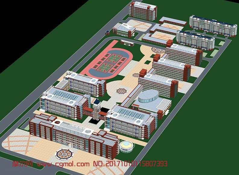 雨棚3d模型_学校鸟瞰图,其他建筑,建筑模型,3d模型下载,3D模型网,maya模型免费 ...