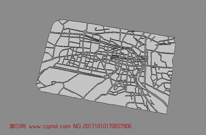 城市区板块图,区域图