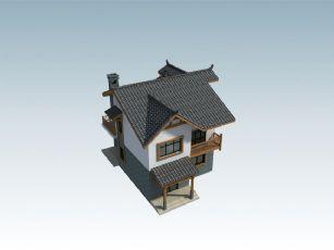 单个阳台的新农村农房