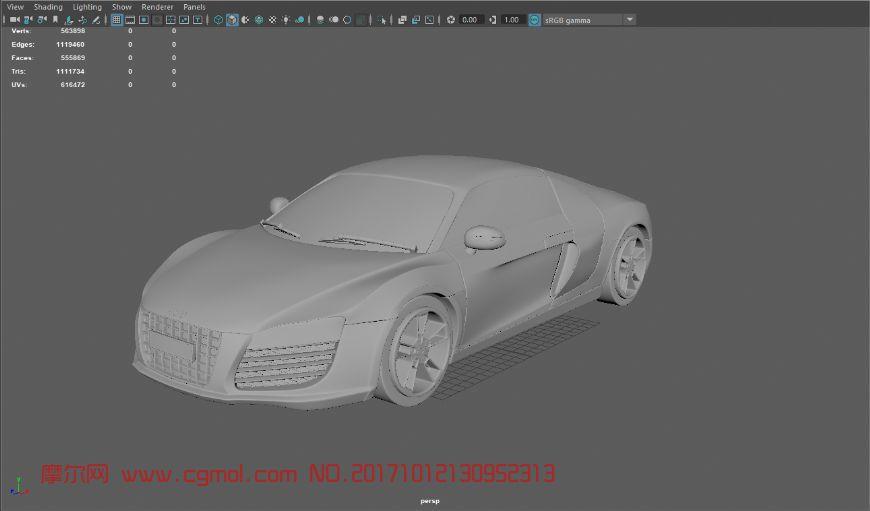 奥迪R8,maya模型