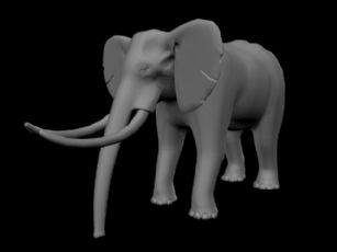 大象maya模型