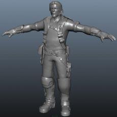 一个游戏中的勇士maya模型