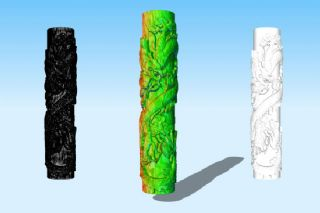 龙柱3D模型