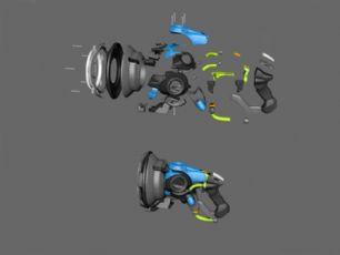 声波枪,冲击波枪,3D打印模型,42个stl文件