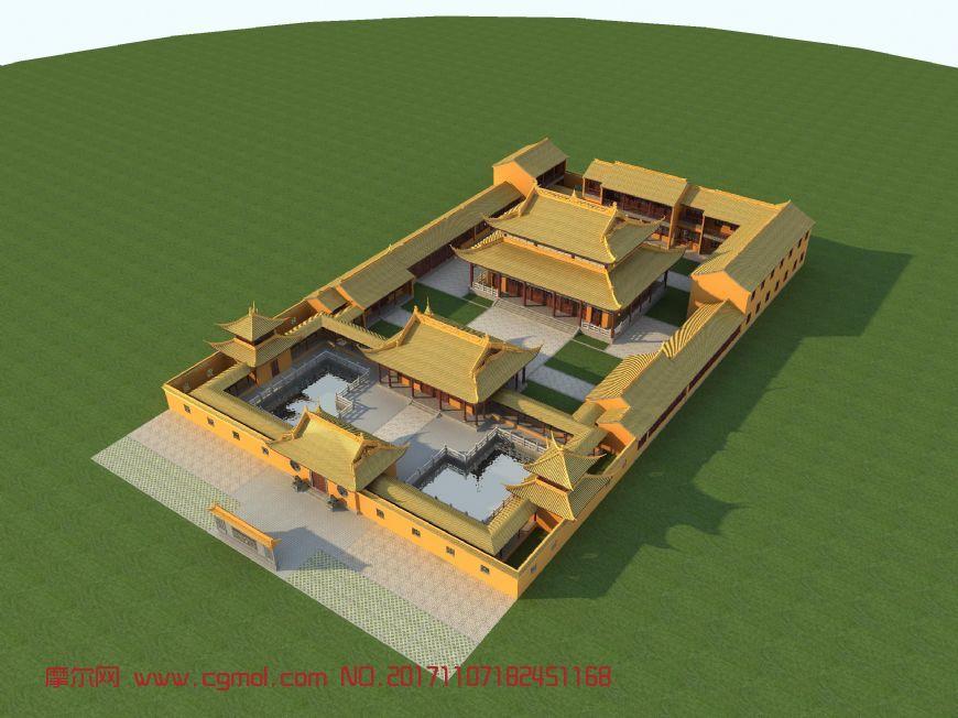 古建寺庙,栏杆,照壁,宫殿