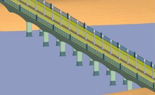 跨江大桥3ds模型