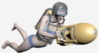 性感女潜水员max模型