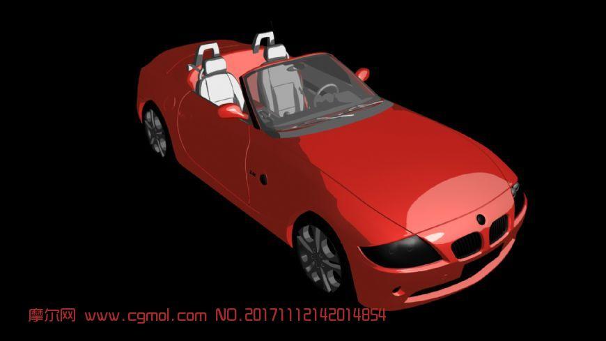 z4红色跑车