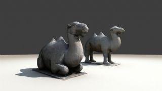 石像生之骆驼,文物3D扫描
