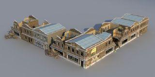 废墟建筑,破损的大楼