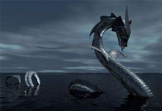 凶恶大蛇,水怪C4D模型