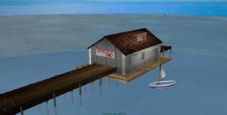 海边小房子+帆船,小屋子