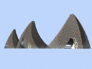 旅游景区金字塔建筑