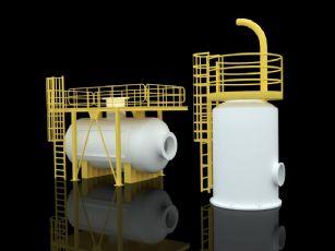 罐体,立罐,横罐max模型
