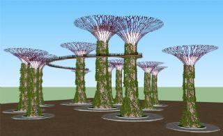 大型公园藤蔓景观设计su模型
