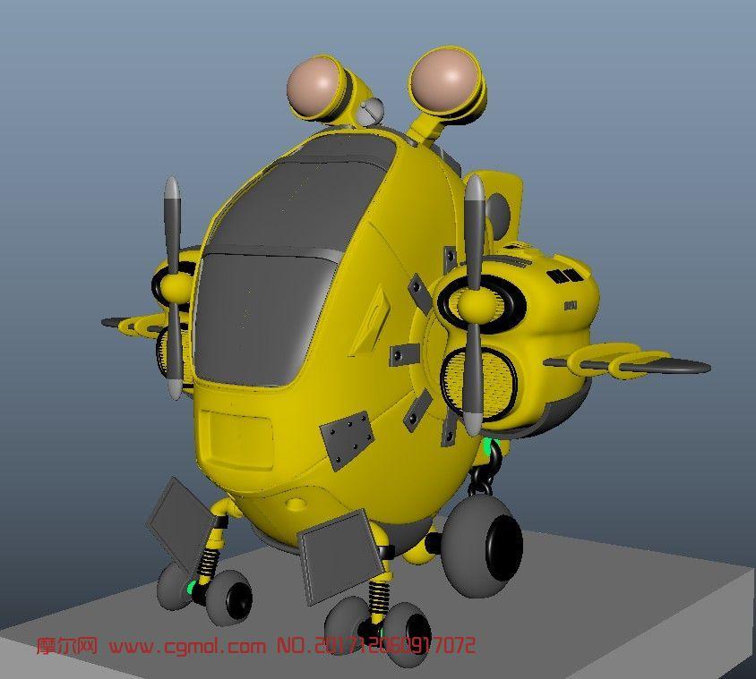 q版飞机纸模_Q版飞机直升机maya作品,机械角色,机械模型,3d模型下载,3D模型网 ...
