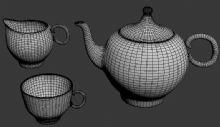 茶杯,茶壶等茶具