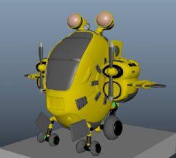 Q版飞机直升机maya作品