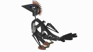 机械鸟模型