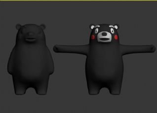 熊本熊,多边形建模